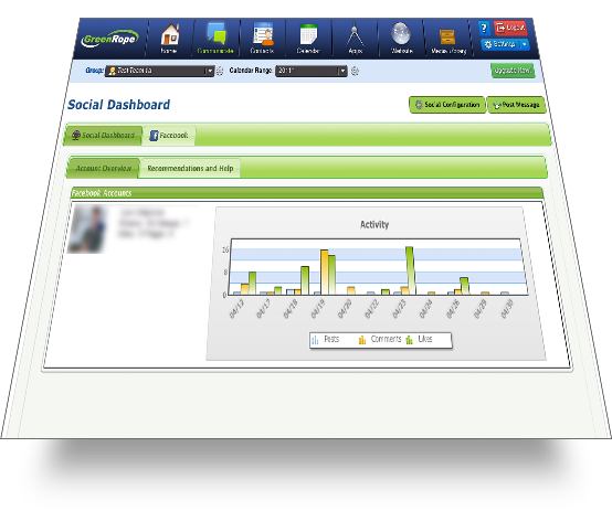 screen social dashboard